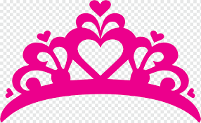 Pink Heart Crown Illustration T Shirt Decal Sticker Crown Princess Crown Love Hair Accessory Text Png Pngwing