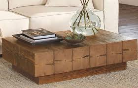 chunky timber coffee table