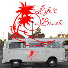 2x Life S A Beach Sticker Vw Dub Surf Camper T25 T5 T4 Camper Van Graphics Motor Home Vinyl Graphics Kit Decals Car Stickers Car Sticker Stickers Acar Decal Sticker Aliexpress