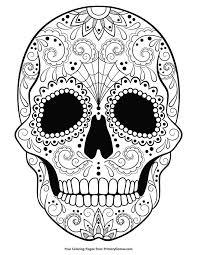 Sugar Skull Coloring Page Free Printable Ebook Kleurplaten