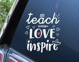 Teacher Car Decal Etsy