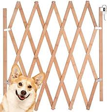 Amazon Com Urijk Expandable Accordian Dog Gate Wooden Accordion Expansion Gate For Doorway Stairs Folding Gate Safety Protection For Small Medium Pet Dog 10 To 41 W 16 H 8 To
