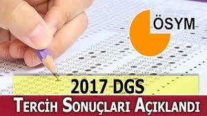 DGS Yerleştirme Sonuçları Açıklandı – 2017 DGS Tercih Sonuçları