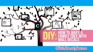 Do It Yourself How To Make A Family Tree Wall Decal With Pictures Youtube Family Tree Wall Decal Tree Wall Decal Family Tree Wall Art