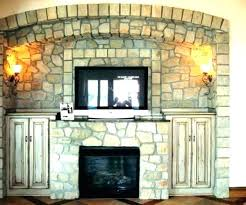 dry stack stone fireplace ideas stacked