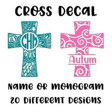 Cross Decal Religious Jesus Sticker Car Cup Tumbler Ebay