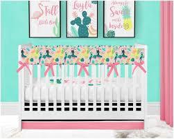 baby girl crib bedding tropical nursery