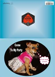 Greeting Cards Print At Home Come To My Party Te Invito A Mi