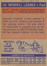 Wendell Ladner Basketball Card | National Museum of American History