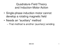 ppt quadrature field theory and