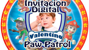 Invitaciones De Paw Patrol Wiwi Shows 5532095492