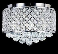 chrome finish round metal shade crystal