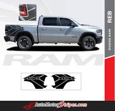 2019 2020 Dodge Ram Rebel Side Decals Ram 1500 Body Stripes Auto Motor Stripes Decals Vinyl Graphics And 3m Striping Kits