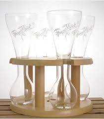 kwak wooden stand for 4 x 33 cl gles