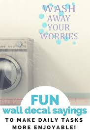 Wash Away Your Worries Vinyl Lettering Bubbles Art Bath Wall Decals Laundry Decor Sticker Quote Wall Decals Laundry Vinyl Lettering Wall Decals