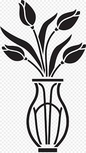 Flowerpot Vase Wall Decal Sticker Design Premium Vector Clipart Yalasarat Online