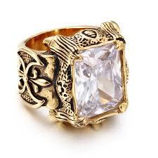 gemstone enement men rings