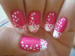 Go Crazy On Your Nails Currentblips Pink Nail Art Pink Nail Designs Polka Dot Nail Designs