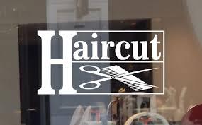 Large Barber Shop Vinyl Sticker Window Door Sign Graphics Salon Barbershop For Sale Online Ebay