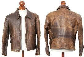 vintage half belt leather jacket