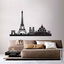 Paris City Skyline Vinyl Wall Art Decal