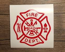 Firefighter Decal Etsy