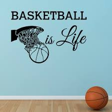 Basketball Is Life Wall Decal Quote Basketball Hoop Wall Sports Vinyl Stickers Nursery Kids Teens Boys Room Art Home Decor Home Decor Wall Decals Quoteswall Decals Aliexpress