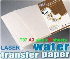 T07 A3 White Laser Papel Transfer Paper X20pcs Water Slide Decal Paper Camisetas Water Transfer Papier Transfert Ceramic Decals Decals For Ceramic Tiles Decals Kawasakidecal Laptop Aliexpress