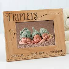 personalized triplets picture frames