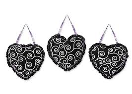 Purple And Black Kaylee Wall Hanging Accessories By Sweet Jojo Designs Only 24 99