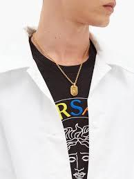 medusa head pendant necklace versace