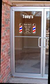 One Barber Shop Pole Vinyl Decal Door Sign By Canadianbuzzard 12 80 Barber Shop Barber Shop Pole Door Signs