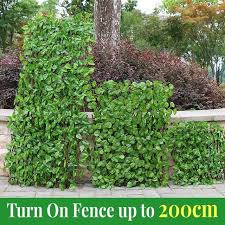 Hot Discount 30aa Retractable Artificial Garden Fence Expandable Faux Ivy Privacy Fence Wood Vines Climbing Frame Gardening Plant Home Decorations Cicig Co
