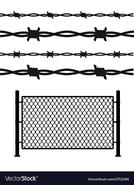 Silhouette Black Metal Fence Wire Mesh Royalty Free Vector