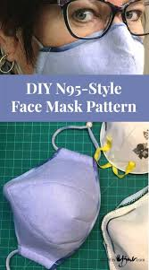 diy n95 style face mask pattern made