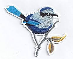 Amazon Com Blue Bird Iron On Decal Iron On Embroidery Sew Applique Diy Heat Press Patch Motif Diy Birdie Child Infant Girl Jeans Patch