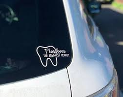 Dentist Car Decal Etsy