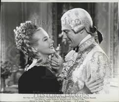 """Hillary Brooke and Patric Knowles in """"Monsieur Beaucaire"""" 1948 ..."""