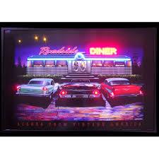 Roadside Diner Vintage America Neon Led Sign At Retro Planet