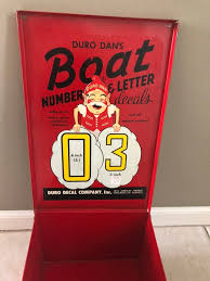 Vintage Advertising Metal Box For Decals Duro Dans Boat Etsy