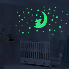Moon Stars Cats Glow In Dark Luminous Fluorescent Vinyl Wall Sticker For Kids Room Home Decor Bedroom Decal Wallpaper Decorative Sticker For Kids Room Stickers Forglow In Dark Aliexpress