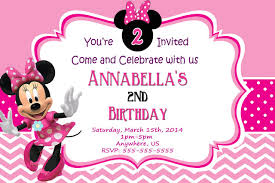 Pink Minnie Mouse Birthday Chevron Invitations