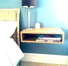 pretty wall mounted bedside table