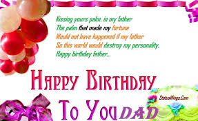 daddy birthday sms quotes english archives com