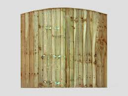 Traditional Garden Fence Panels Curved Feather Edge Vertical Tanalized Green Panels Pennine Fencing Landscaping