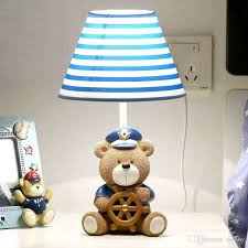 2020 Oovov Cute Bear Captain Baby Room Table Lamp Cartoon Fabric Boy Girl Room Desk Lamps Kids Bedroom Desk Lamps From Oovov 60 31 Dhgate Com