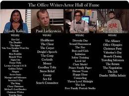 office writer actor hall of fame