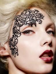face lace mehndi accessory fancydress