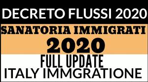 Decreto flussi 2020 / Sanatoria strameri 2020 Full update - YouTube