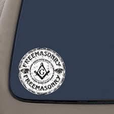 Freemason Vinyl Decal Sticker 4 Inch Decal 2 Pack Car Truck Van Suv Laptop Macbook Wall Decals Walmart Com Walmart Com